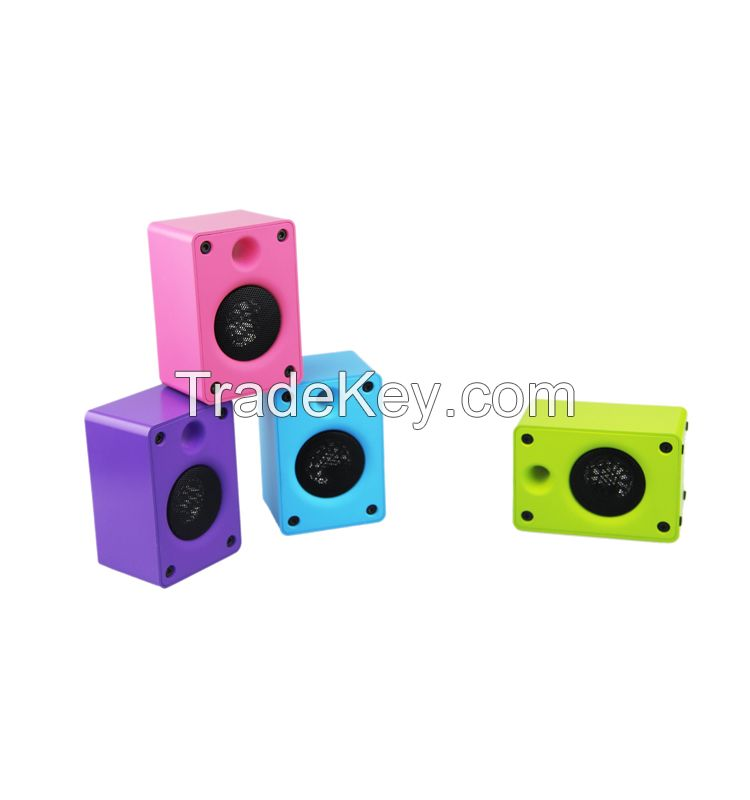 The best quality portable colorful bluetooth speaker from China munufactory