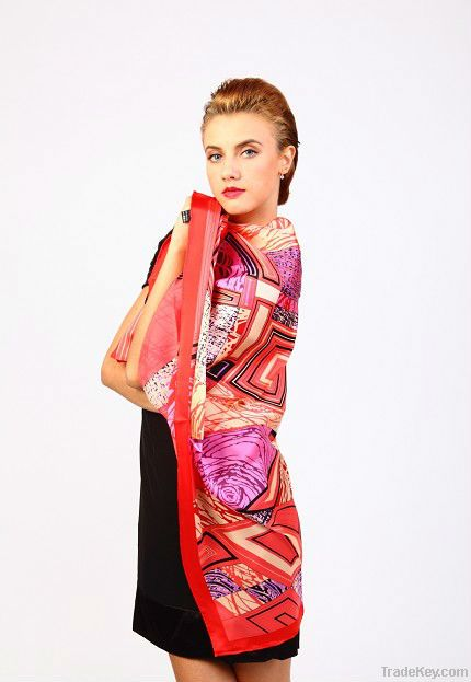 Fashion silk scarf for hair