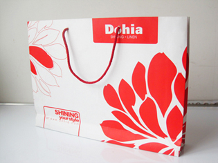shopping paper bag printing with your logo Recycled Paper