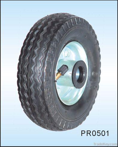 small pneumatic rubber wheel 5 inch