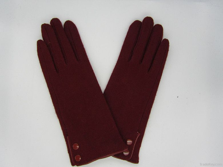 women's  Lateral buckles cashmere glove