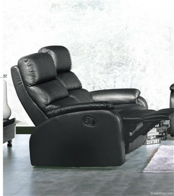 Modern electric leather reclining sofa recliner sofa for living room V