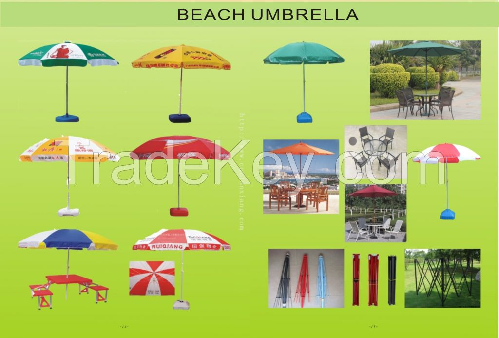 Beach umbrella golf umbrella kids umbrella 3 folding umbrella for sale