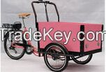 CE approved Europe 3 Wheel denish bakfiets/ family Electric Cargo Bikes for children