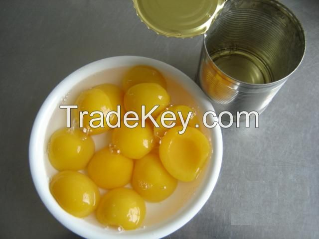Canned Yellow Peach halves in pear juice