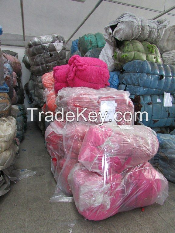 72000 Kg Textile Waste ( Dyed Yarn ) Different Color ( Mostly Wool - Mixed Wool - Acrylic - Cotton - Polyester )