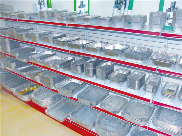 Environmental Convenient Pollution-free Disposable Rectangular Alu Foil Food Container