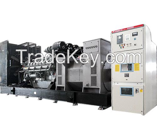 1800KW Block-Containerized Parallel Synchronizing High Voltage Gen-set
