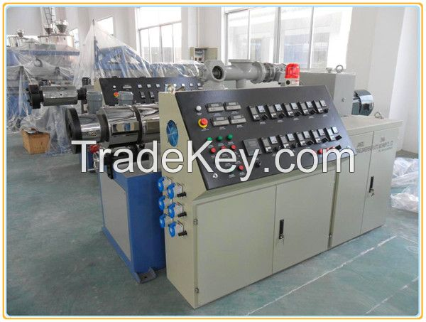 Conical twin-screw plastic extruder