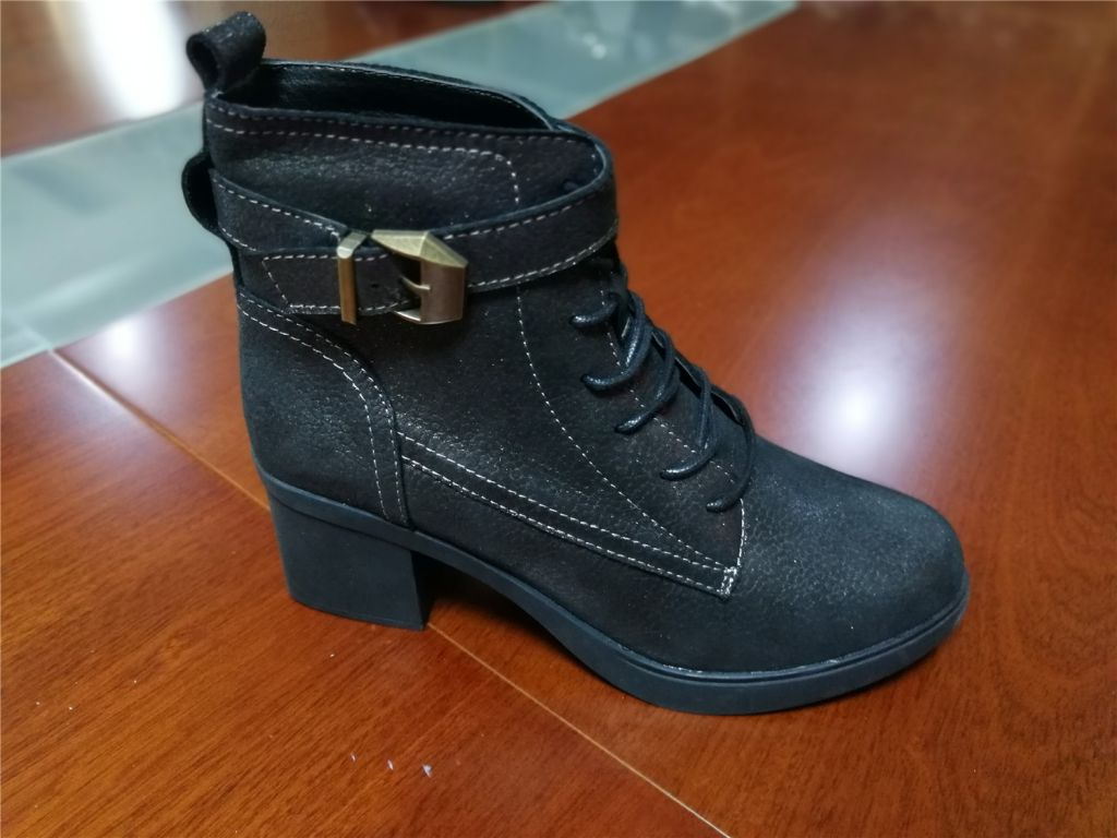 Women Leather Boots Winter Shoes Lady Ankle Boots