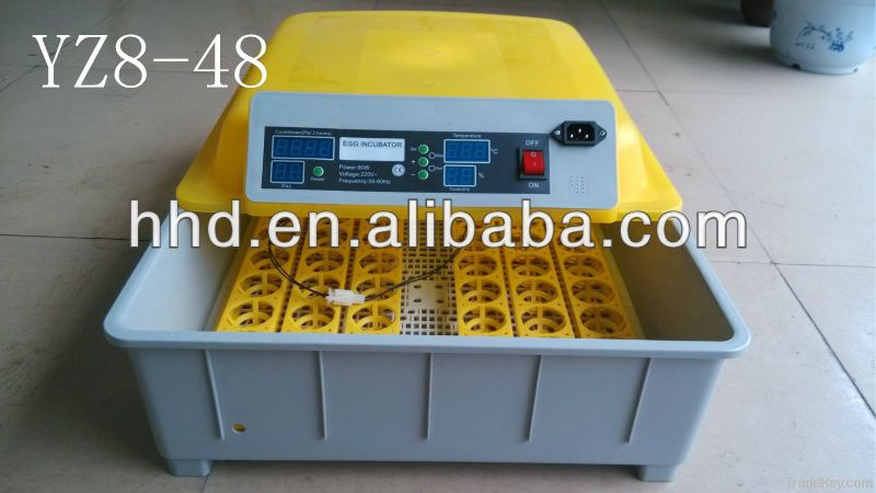 YZ8-48 CE Approved automatic small egg incubator hatching machine for