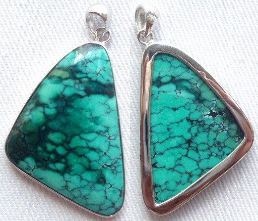 Turquoise Silver Pendants