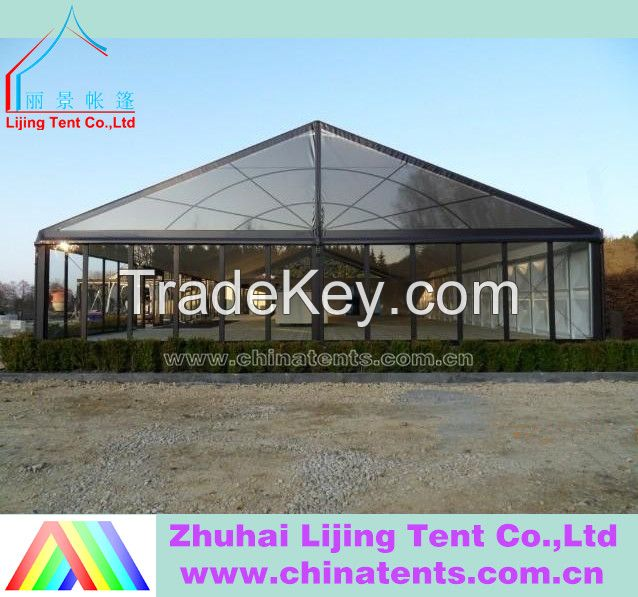 Steel sandwich panels warehouse tent with Block out PVC fabric roof cover