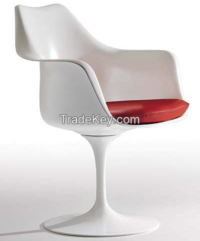 Eero Saarinen Fiberglass Tulip Chair /White Fiberlass Dining Chair/Tulip Armless Chair/YXL-YLW