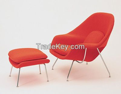 Leisure Chair Series Lounge Womb Chair with Solid Stainless Steel Legs and Woolen Upholstery, designer furniture/YXL-ZGL