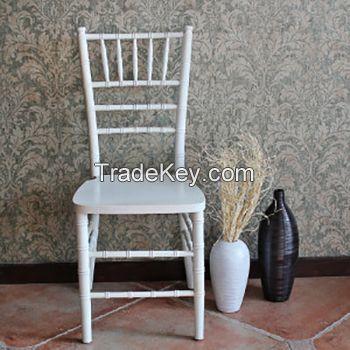 Wood Chiavari Chair, White color, 2years warranty/YXZJ-ZMB