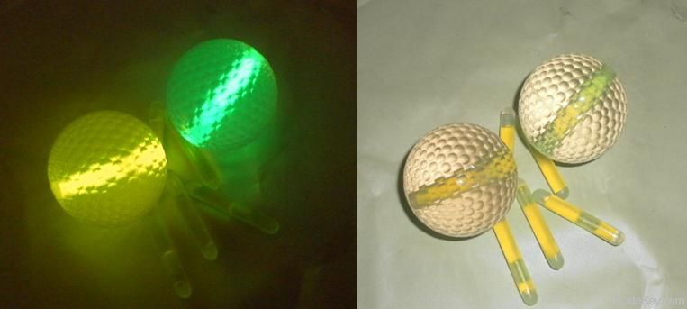 glowing golf ball