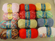 Fancy yarn (of acrylic, polyester, nylon, cotton, ect., fibers)