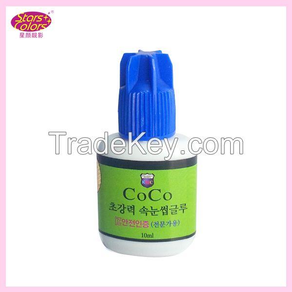 professional Korea fast dry no toxic black color false eyelash glue eyelash glue