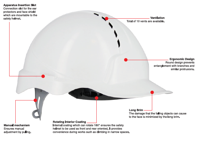1432-BL Safety Helmet
