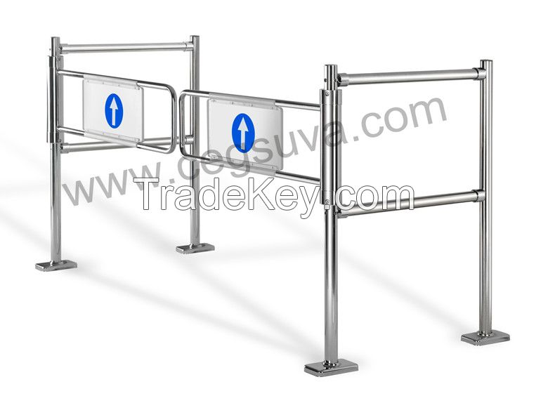 Dual Mechanical Gate Supermarket Gate , Swing Gate, Entrance Gates