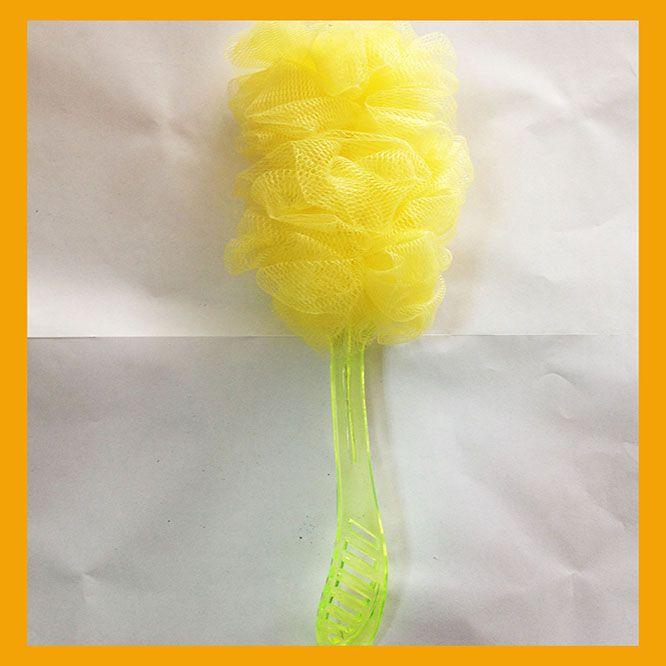 long bath sponge with handle