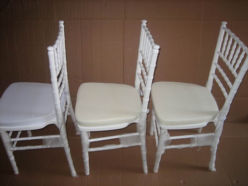 White wood wedding chivari chair