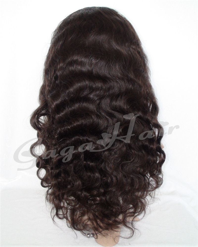 Free Shipping 100% Brazilian Virgin Human Hair Natural Color Unprocessed 10''-24'' Body Wave Lace Front Wig Grade 5A Cheap Price
