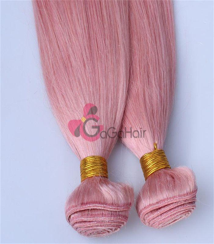 Queen hair products, brazilian virgin hair Silky Straight, 100% human Pink Color 10''-28'' Free shipping Grade AAAAAA Big Discount