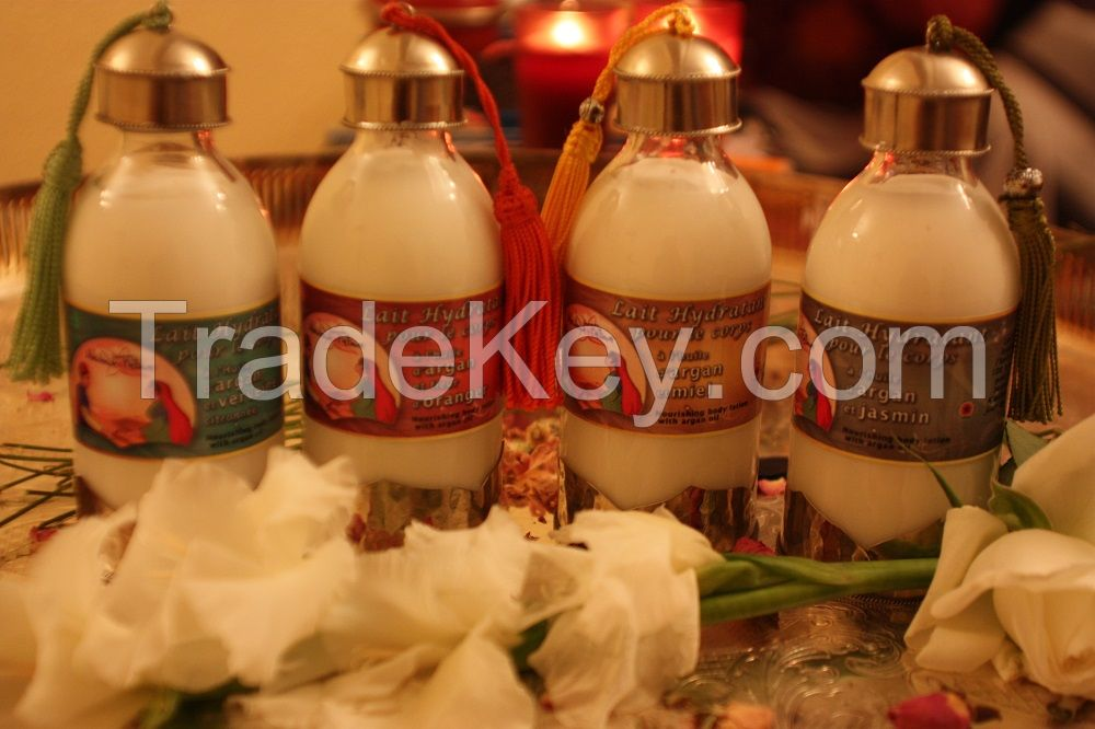 Natural body lotion enriched with argan oil