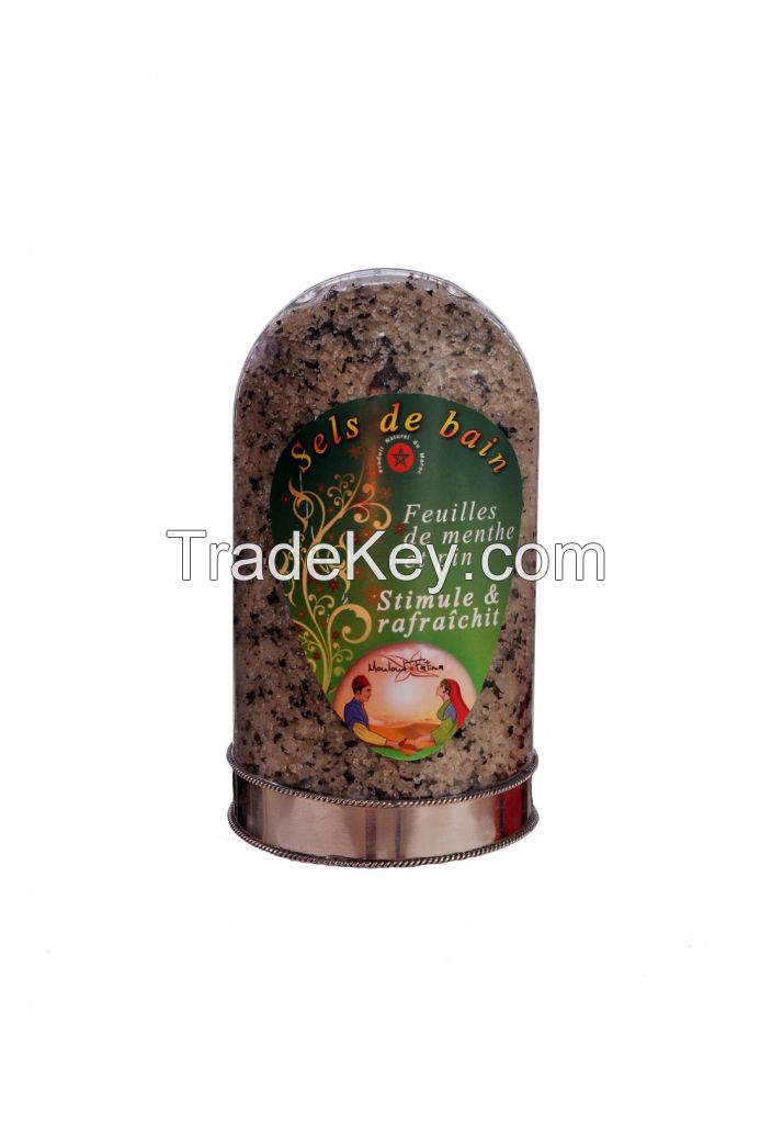 Natural Bath Salt enriched with argan oil