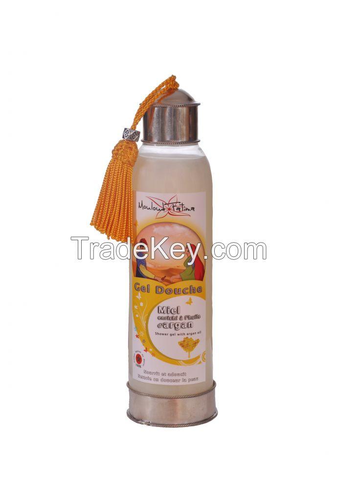 Natural shower gel enriched with argan