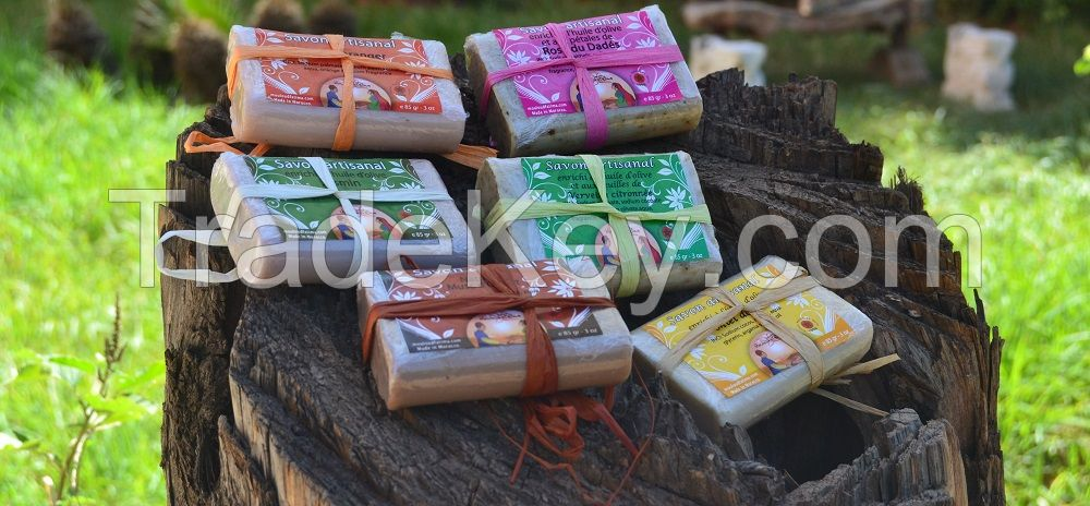 Natural Bar of soap enriched with argan oil