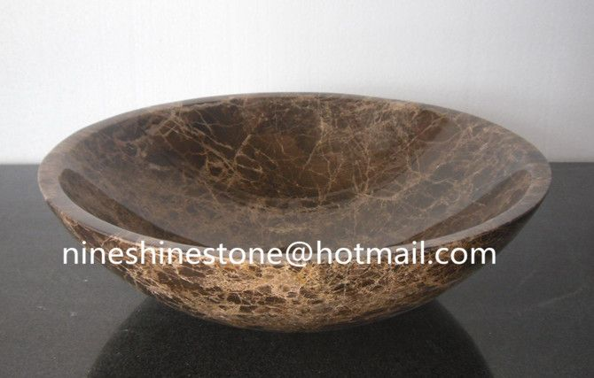 Brown Marble Sink Basin,Stone Kitchen washroon