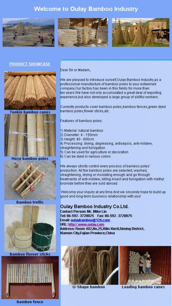 Bamboo stakes u shape