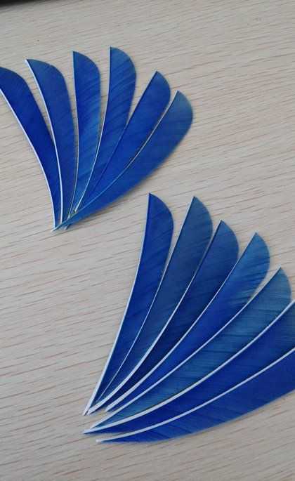 nature streamline turkey feathers for diy hunting arrows