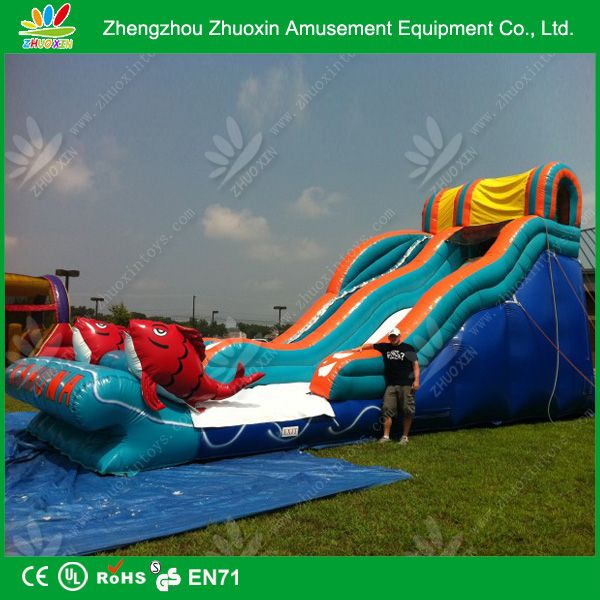 size and design customized inflatable water slide