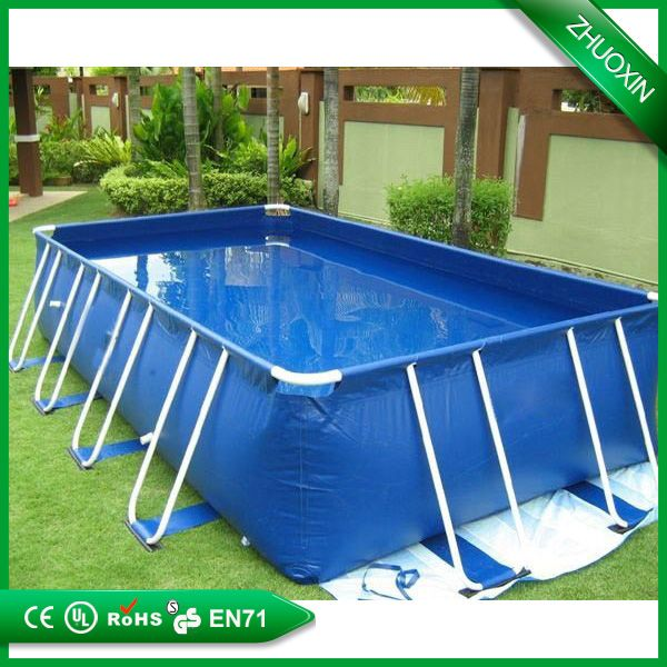 size can be customized above ground plastic frame swimming pool
