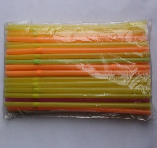Striped Straw Plastic