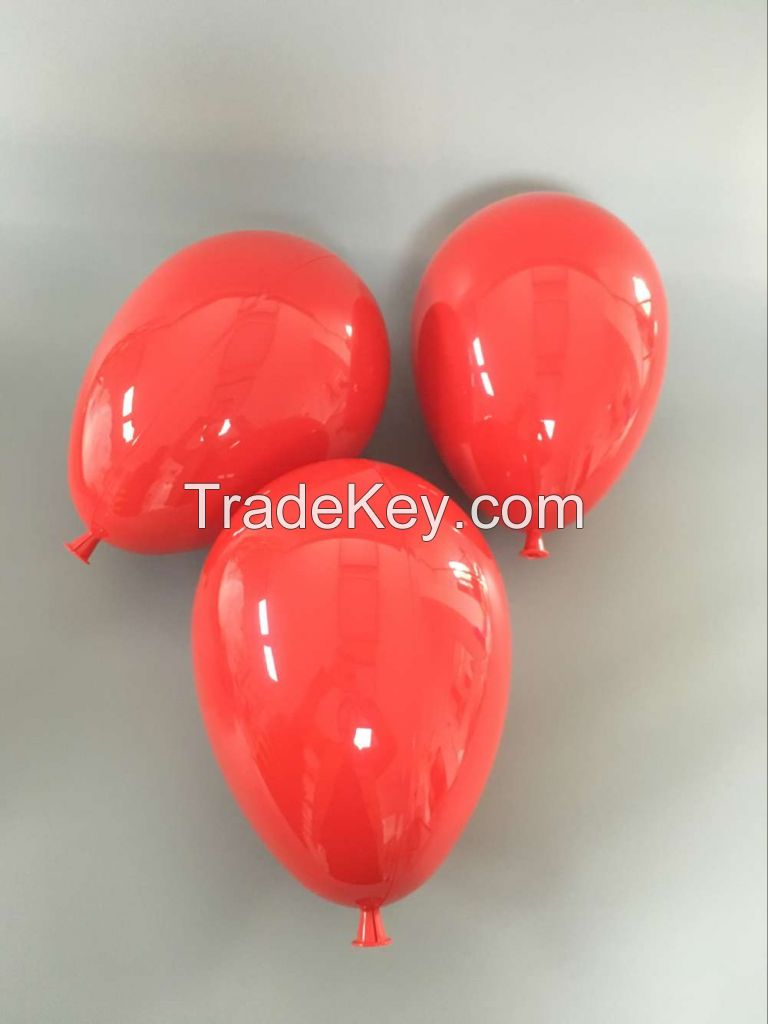 Plastic reusable hard balloon for display props