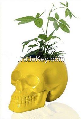 Custom high glossy geek design skull vase
