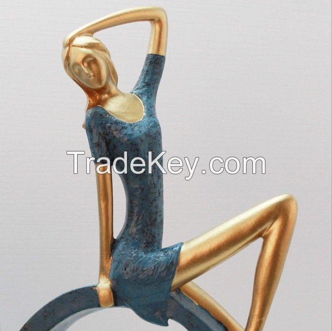 Custom resin ballet dancing interior decoration