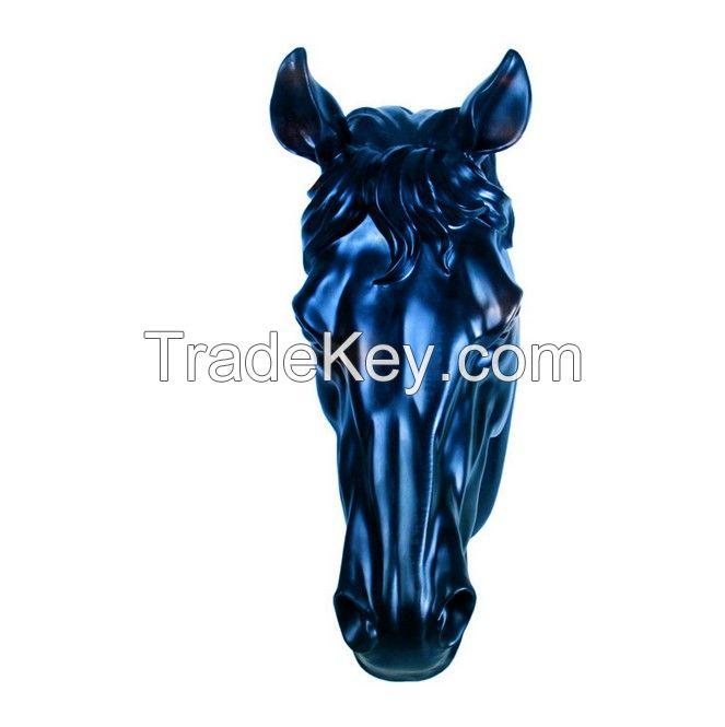 Polyresin 3D horse head wall decoration