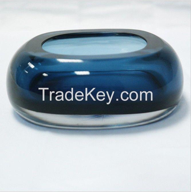 Clear K9 crystal art design ashtray