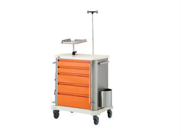Emergency Trolley 74450 - Stainless Steel Hospital Equipments