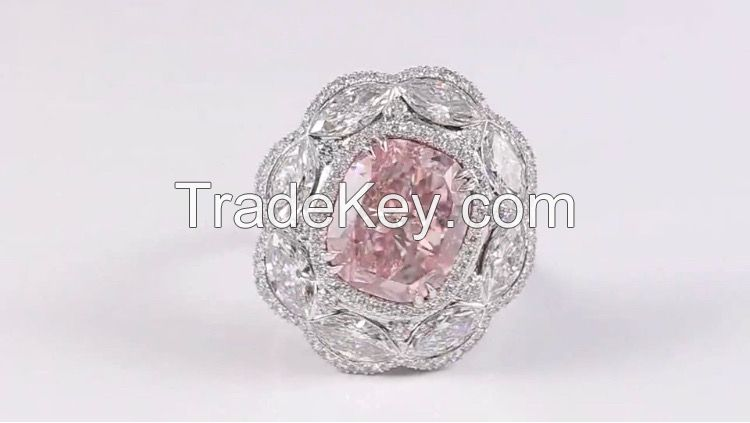 Fancy Pink Diamond Ring 10.03 Carat