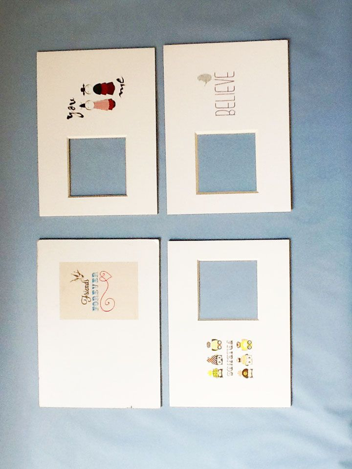 Pre-cut Mat Board,Acid Free Single Mat,Multi Opening for Picture Frame