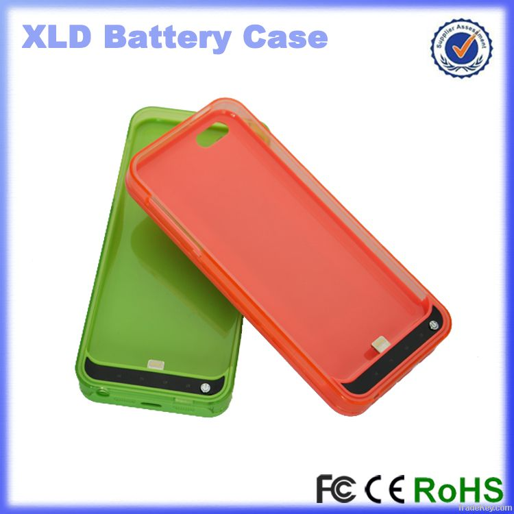 2014 Wholesale for iphone 5C 3000mAh Kickstand Battery Case