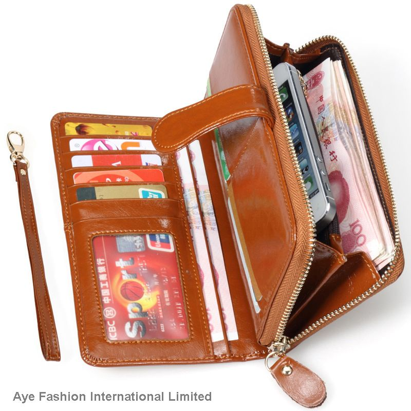 New fashion female women high quality genuine leather wallet
