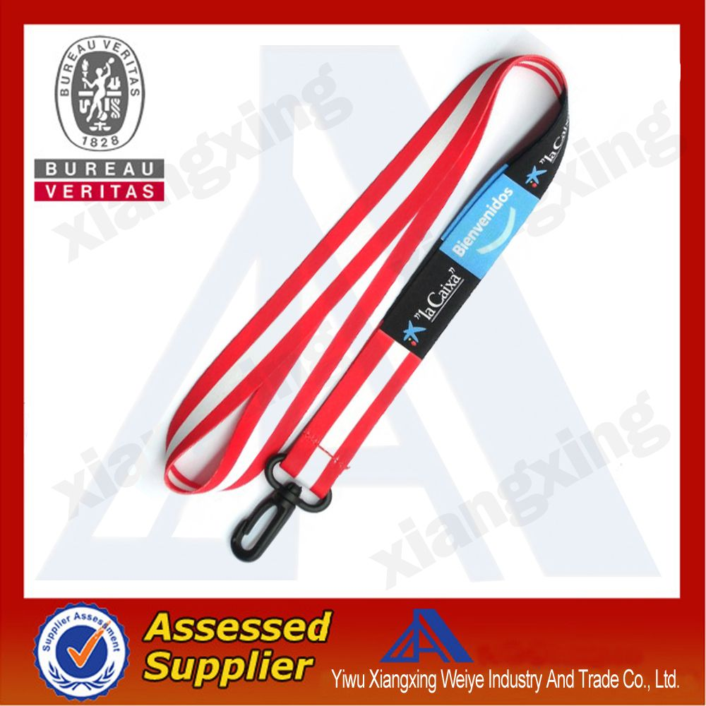 Safety Buckle Heat Transfer Lanyard For Sale